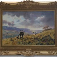 John Seerey Lester 'The Shooting Party' Original Oil Painting