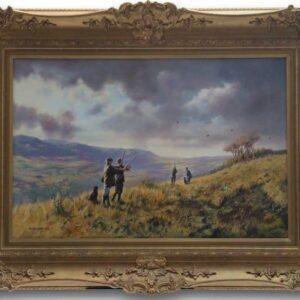 John Seerey Lester 'The Shooting Party' Original Oil Painting