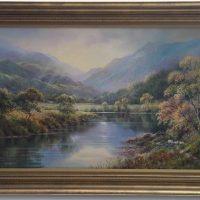 Hillary Schofield 'Scottish Highlands' Original Oil Painting