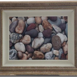 Original Oil Painting - 'Pebbles' By Joanne Shaw