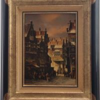 PC Steenhouwer 'Dutch Street' Original Oil Painting