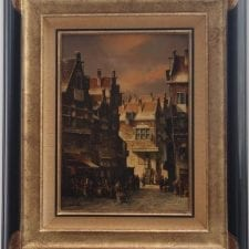 PC Steenhouwer 'Dutch Street' Original Oil Painting