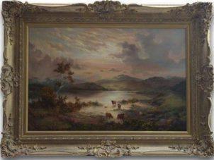 Prudence Turner 'Scottish Highlands' Original Oil Painting