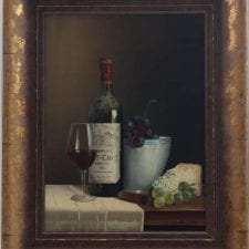 Peter Kotka 'Wine Selection 2' Original Oil Painting