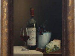 Original Oil Painting - 'Wine Selection 2' By Peter Kotka
