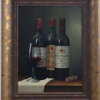 Original Oil Painting 'Wine Selection 2' By Peter Kotka