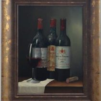 Peter Kotka 'Wine Selection 1' Original Oil Painting