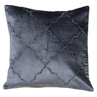 Luxury Square Cushion - Moroccan Midnight Blue Cushion - Feather Filled