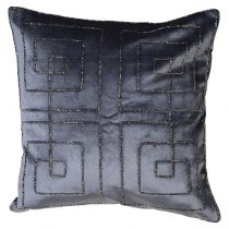 Luxury Cushion Collection ~ Fret Midnight Blue ~ Feather Filled