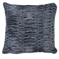 Luxury Square Cushion - Midnight Blue Ruffle Cushion - Feather Filled