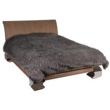 Luxury Large Speckled Fur Throw - Faux Fur