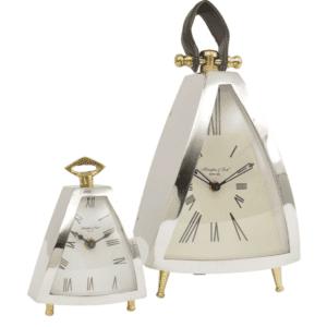 McLaughlin & Scott Isosceles Chrome Mantel Clock