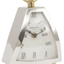 McLaughlin & Scott Isosceles Chrome Mantel Clock