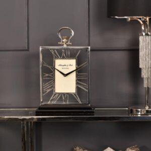 Mantel Clock - 'McLaughlin & Scott Clock Co' Polished Chrome