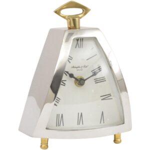 Mantel Clock - McLaughlin & Scott Clock Co - Chrome & Brass Mantel Clock