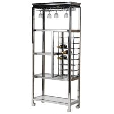 Large Chrome Drinks Bar - Contemporary Design