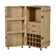 Solid Wood Drinks Bar - Trunk Design