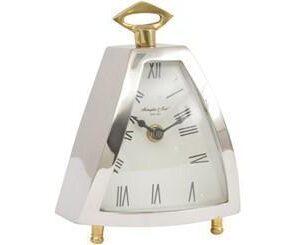 Mantel Clock - McLaughlin & Scott Clock Co - Chrome & Brass