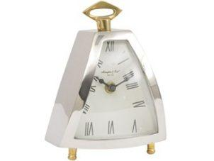 Mantel Clock - McLaughlin & Scott Clock Co - Chrome & Brass