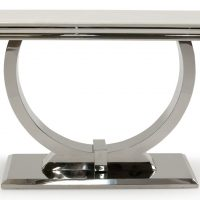 Console Table - Cream Marble & Chrome Based - 120cm