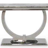 Console Table - Grey Marble Top & Chrome Based Contemporary Design - 120cm