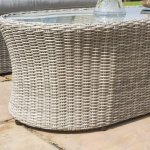 Garden 4 Piece Sofa Set - Grey Polyweave - All Weather