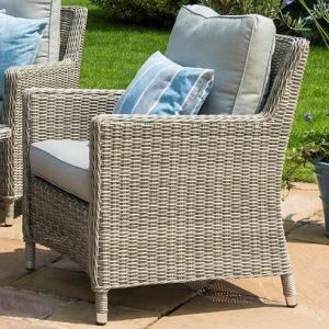 6 Seat Corner Garden Sofa Set - Coffee Table - Single Chair - Grey Poly Rattan