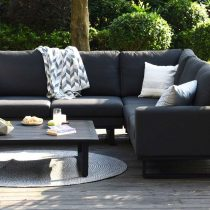All Weather Garden Fabric Corner Sofa Group - Coffee Table - Small - CHARCOAL