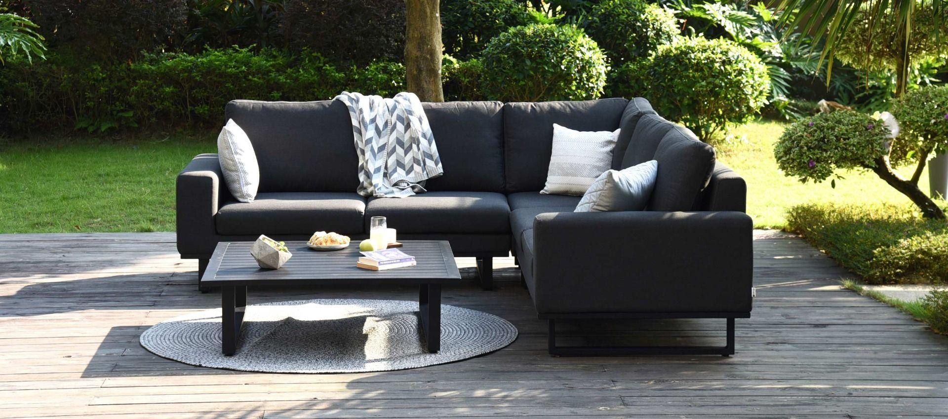 Garden Fabric Corner Sofa Group - Coffee Table - Small ...