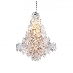 Multi Layer Crystal Small Faceted Design Chandelier