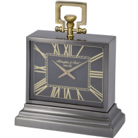 Mantel Clock - McLaughlin & Scott Clock Co - Small Brass & Black Clock