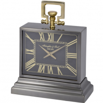 McLaughlin & Scott - Small Brass & Black Mantel Carriage Clock