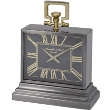 McLaughlin & Scott - Small Brass & Black Mantel Carriage Clock