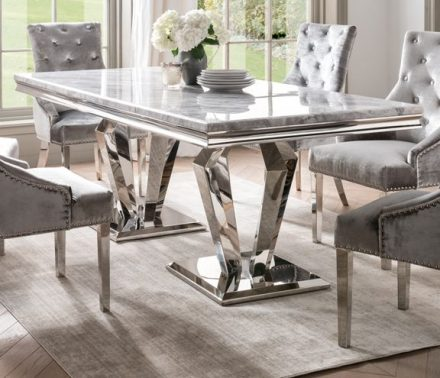 Also available in round https://womacksofbawtry.co.uk/shop/furniture-by-range/marble-top-range/adriatic-chrome-marble-contemporary-round-dining-table-130cm-grey/