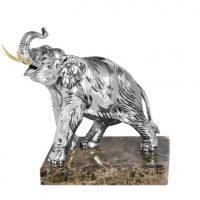 Marble Based Heavy Carved Elephant - Large