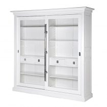 The White Range - White Sliding Glass Door Display Cabinet