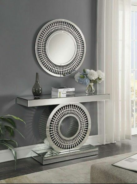 Mirrored Furniture Range - Crystal Mirrored Bevelled Edge Console Table & Mirror