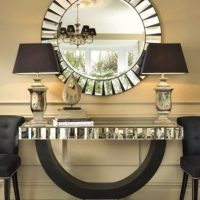 Console Table & Mirror - Beveled Mirror Design - Mirrored Furniture Range