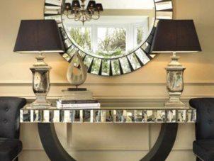 Console Table & Mirror - Beveled Mirror Design - Mirrored Furniture Range