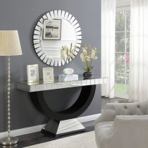 A brand new addition to our Mirrored Furniture Range- Bevelled Console Table & Mirror Other mirrored consoles are also available. https://womacksofbawtry.co.uk/shop/furniture-by-range/mirrored-furniture-range/mirrored-furniture-range-crystal-mirrored-bevelled-edge-console-table/ Height: 80cm Depth: 40cm Width: 136cm Mirror 90cm