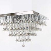 Large parma square flush chandelier