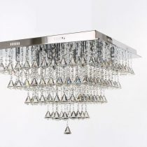 Large parma square flush chandelier