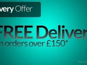 FREE DELIVERY ON ALL YOUR ORDERS OVER £150