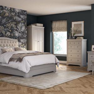 Bedside Drawers - 2 Drawer -Taupe Finish - Isabel Bedroom Range
