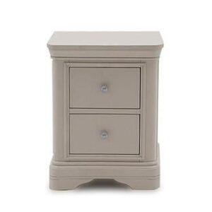 Bedside Cabinet - 2 Drawer -Taupe Finish - Isabel Bedroom Range