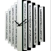 Crystal Mirrored Bar Wall Clock