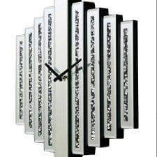 Crystal Mirrored Bar Wall Clock
