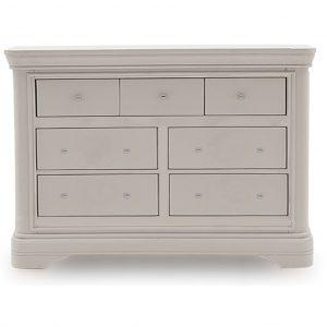 Chest Of Drawers - 3 Over 4 - Taupe Finish - Isabel Bedroom Range