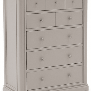 Chest Of Drawers - 3 Over 5 Drawers - Isabel Hand Painted Range - Taupe Finish