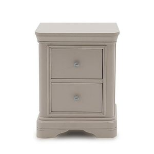 Bedside Cabinet - 2 Drawer -Taupe Finish - Isabel Bedroom Range